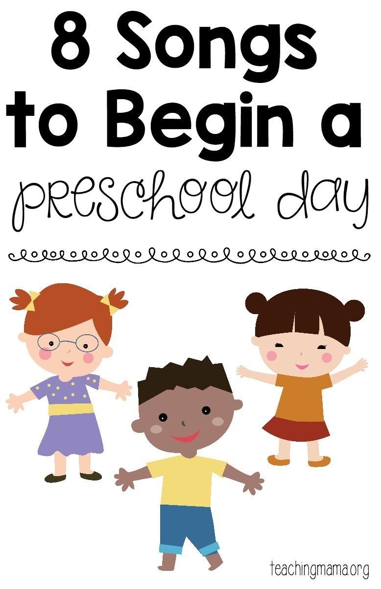 8 Songs To Begin A Preschool Day | Teaching Mama's Posts | Preschool - Free Printable Preschool Posters