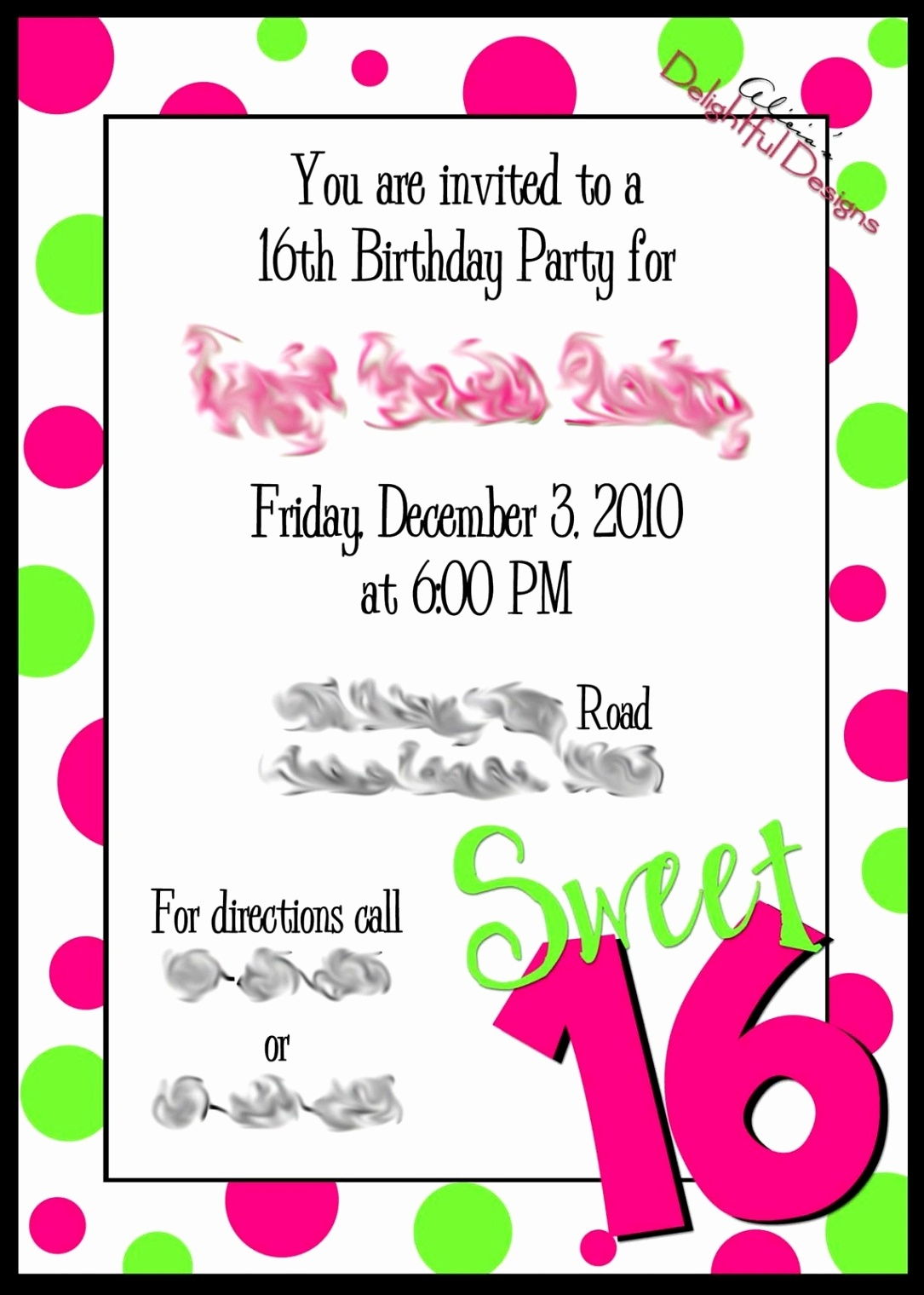 97+ Printable 16Th Birthday Invitations - Sweet 16 Invitation - Free Printable 16Th Birthday Party Invitation Templates