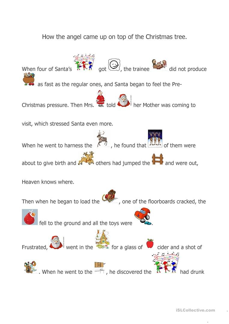 A Christmas Story Worksheet - Free Esl Printable Worksheets Made - Free Printable Nativity Story