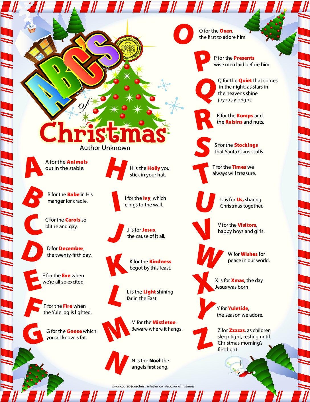 Abc's Of Christmas   Christmas   Christmas Alphabet, Christmas - Free Printable Christmas Alphabet