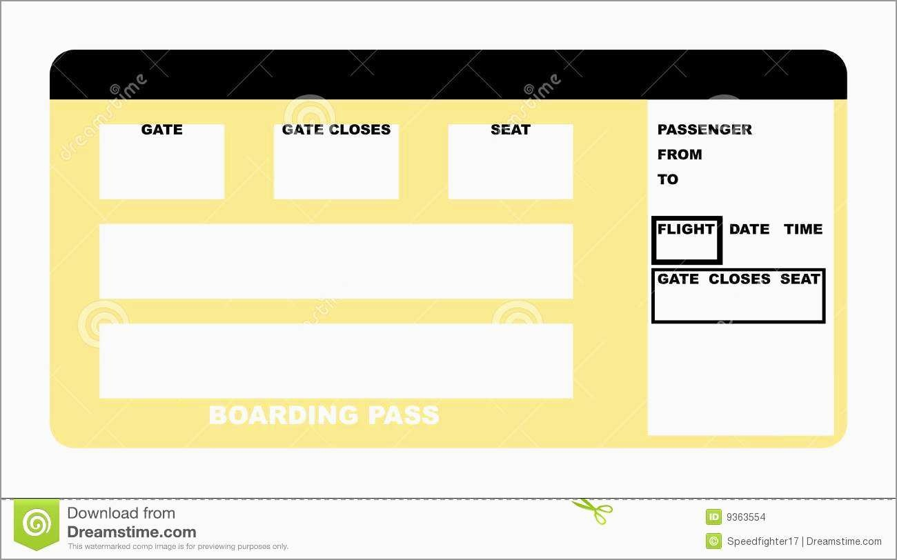 Airline Ticket Invitation Template Free Download Wonderfully - Free Printable Boarding Pass