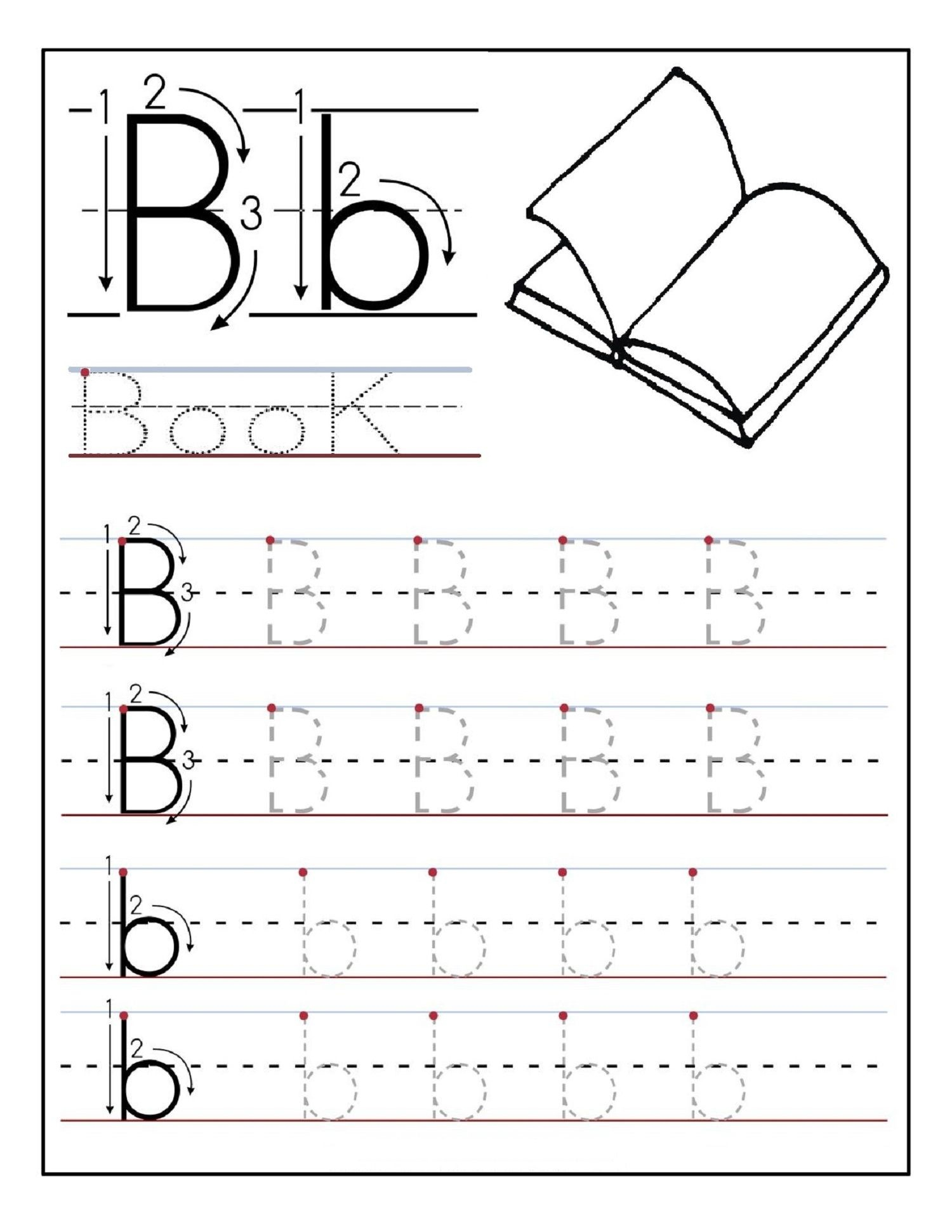 Alphabet Tracing Printables Best For Writing Introduction - Free Printable Preschool Worksheets Tracing Letters