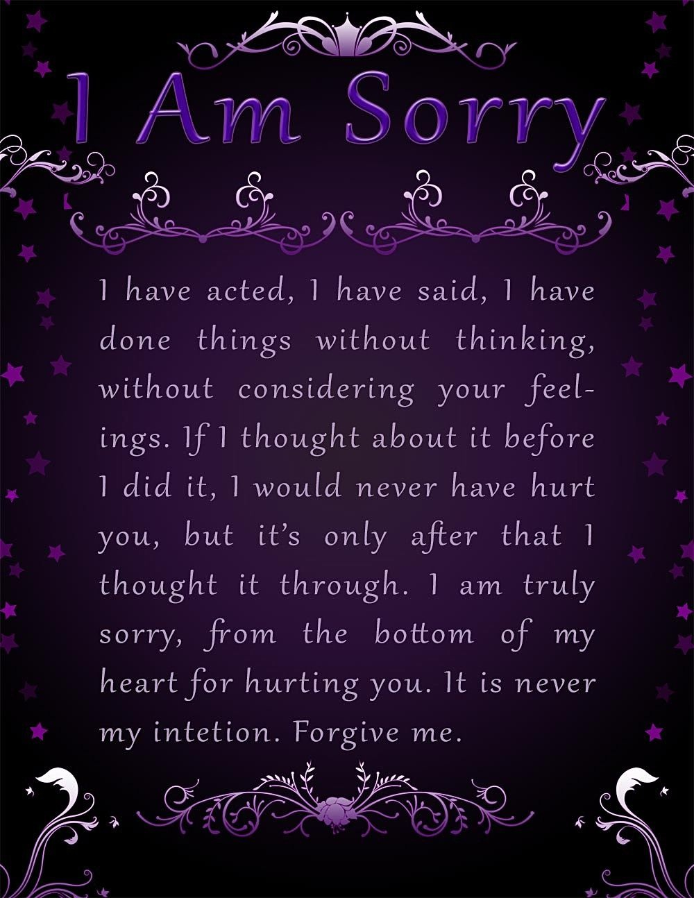 Apology Card Templates   10+ Free Printable Word & Pdf - Free Printable I Am Sorry Cards