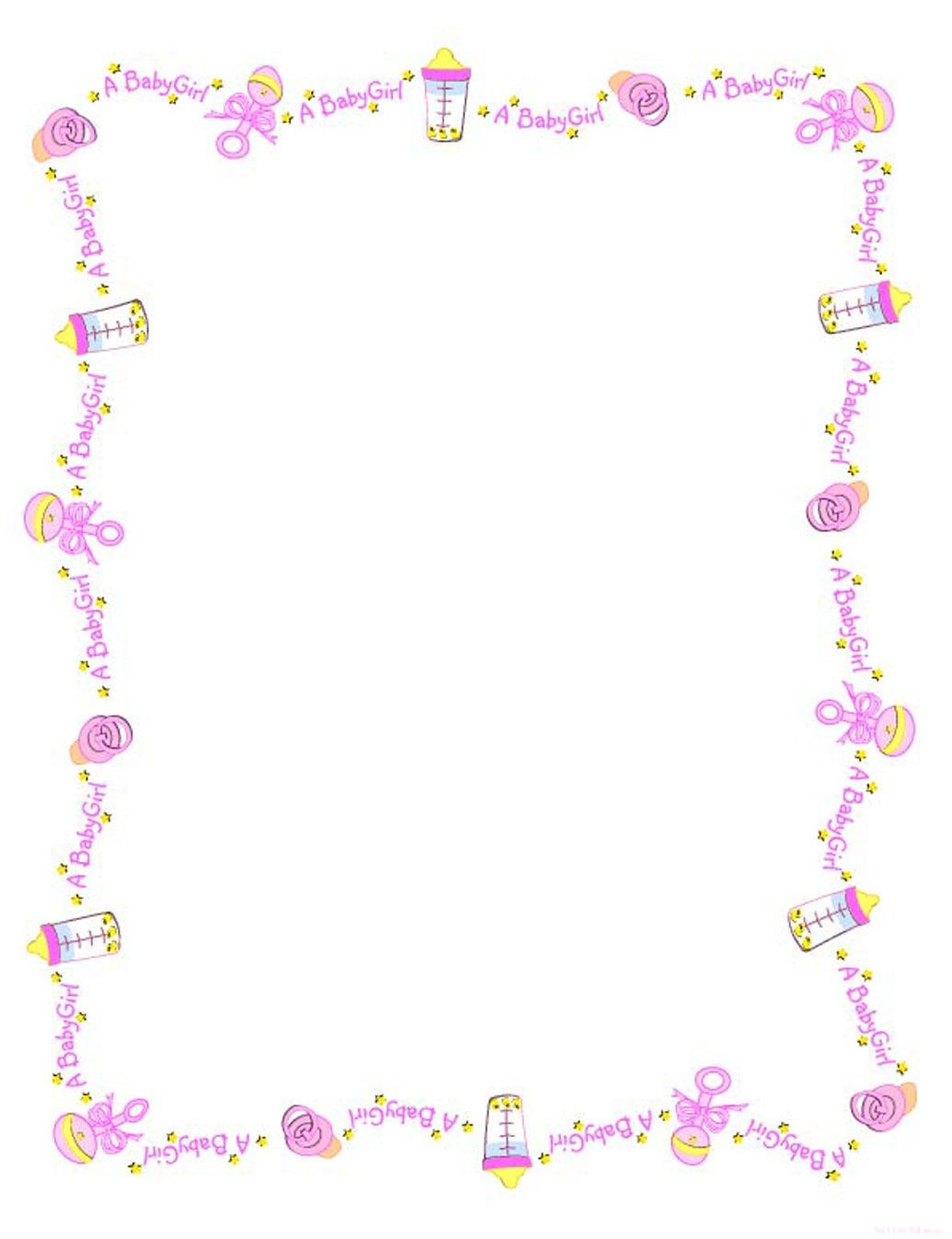 Baby Girl Borders Clipart - Clipart Kid   Projects   Baby Shawer - Free Printable Baby Borders For Paper