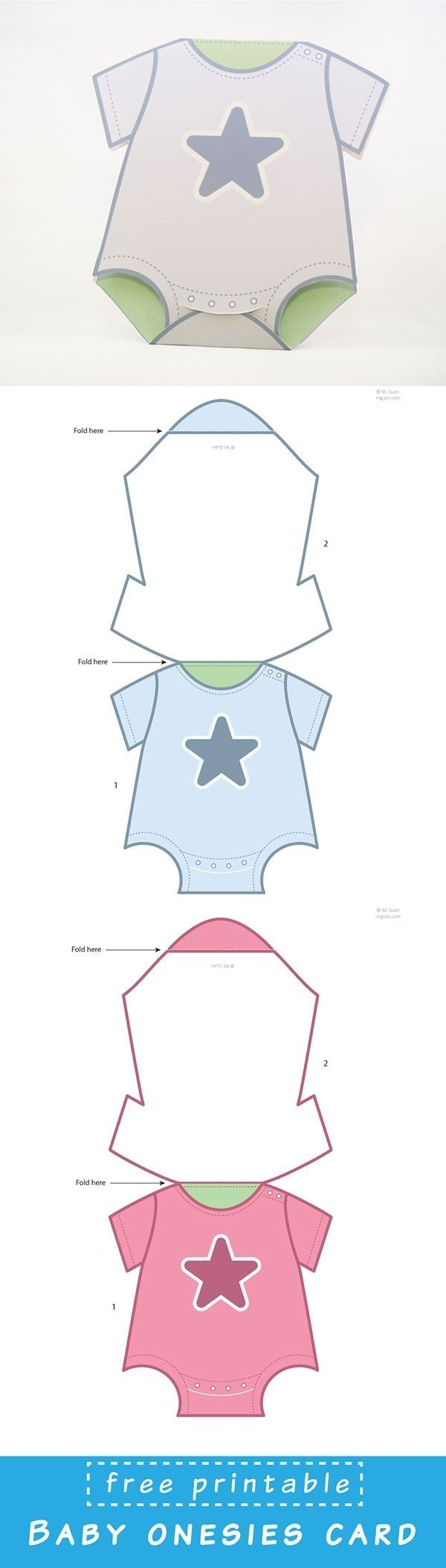 Baby Onesies Cards   Projects To Try   Baby Shower Cards, Baby, Baby - Free Printable Onesies