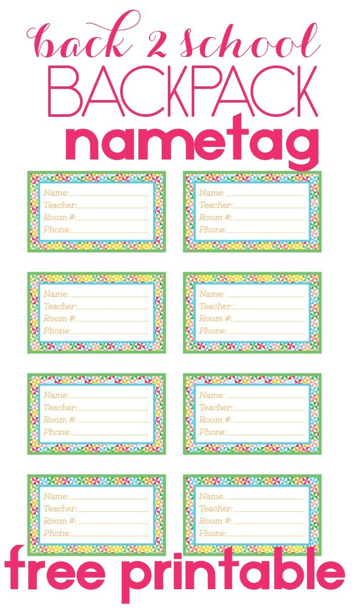 Back To School Backpack Name Tag   Diy Products   Name Tag For - Free Printable Name Tags For Teachers