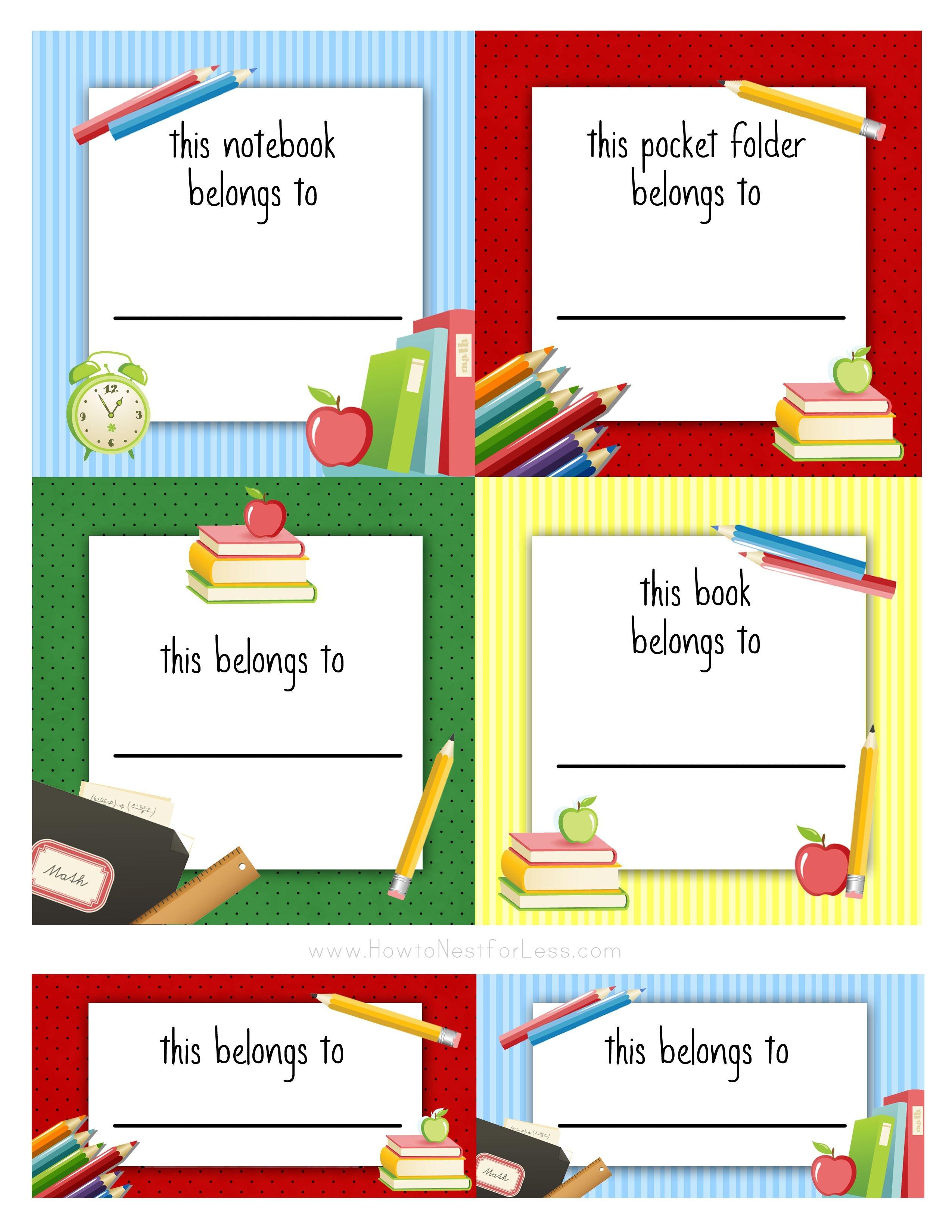 Back To School Labels For Kids   Printables, Freebies, Diy   School - Free Printable Name Labels For Kids