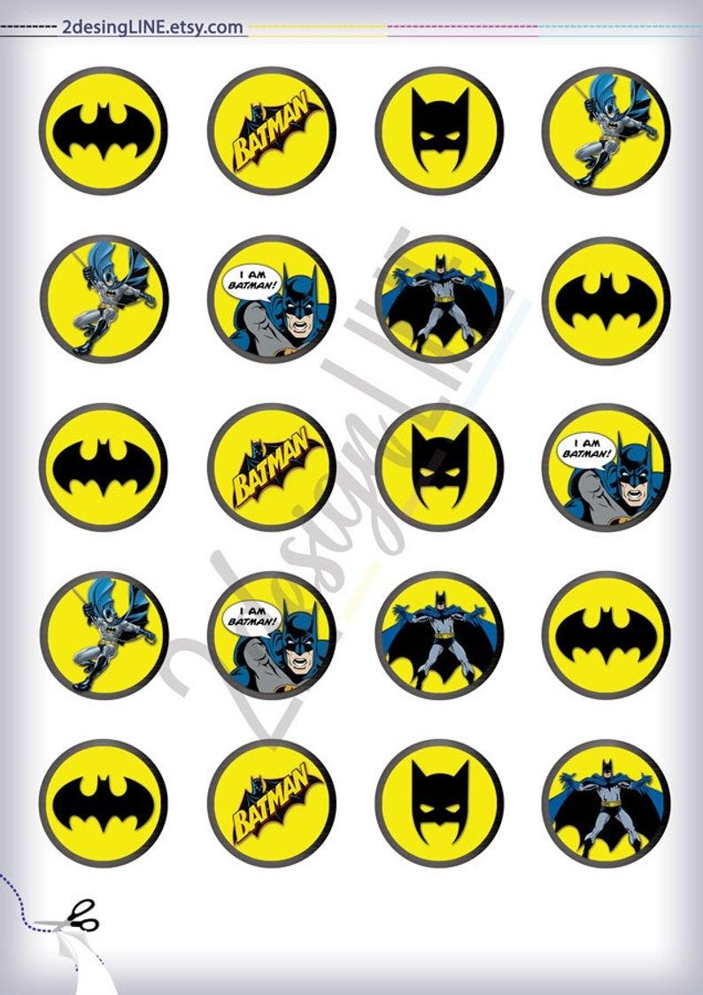 Batman Cupcake Toppers Batman Birthday Decor Printable | Etsy - Batman Cupcake Toppers Free Printable