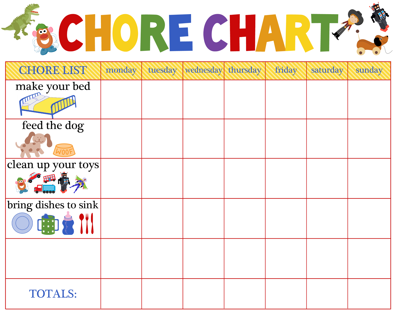 Behaviour Charts For 6 Year Olds | Kiddo Shelter | Printable Reward - Chore Stickers Free Printable
