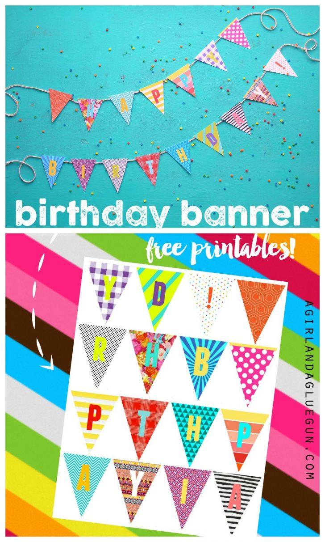 Diy Birthday Banner Free Printable