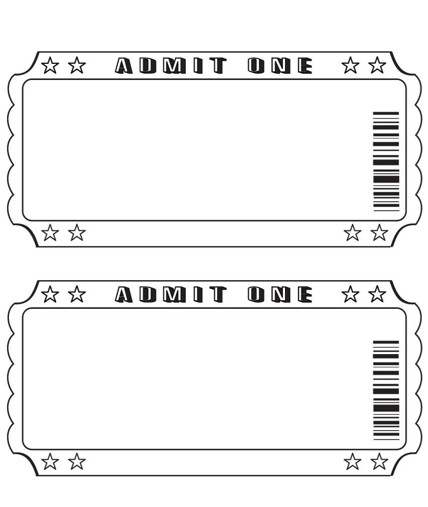 Blank Ticket … | Diy And Crafts | Ticke… - Free Printable Admission Ticket Template
