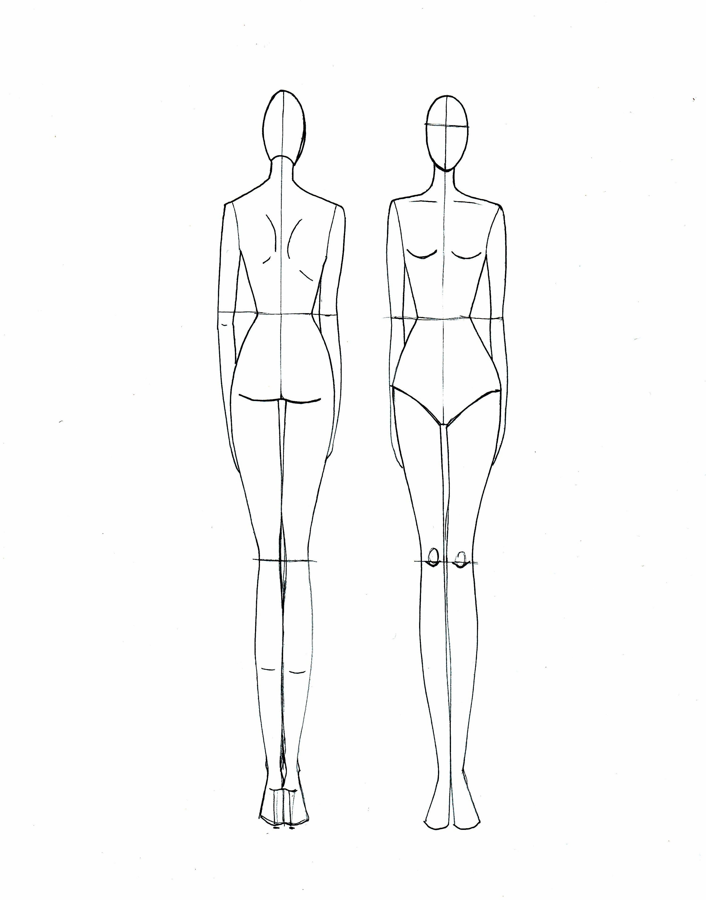 Body Sketch Template At Paintingvalley   Explore Collection Of - Free Printable Fashion Model Templates