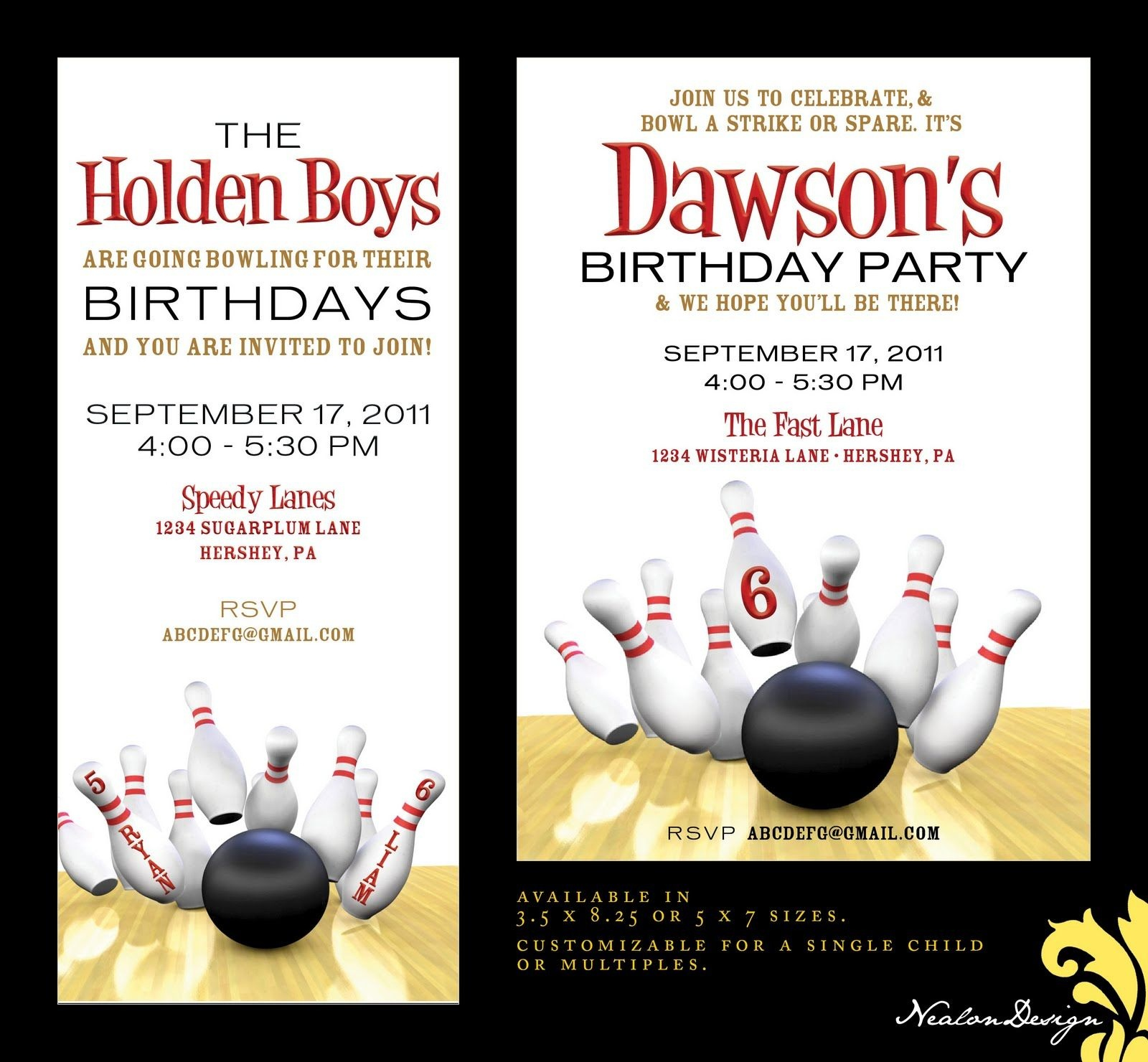 Bowling Party Invites   Birthday Party Ideas   Bowling Party - Free Printable Bowling Birthday Party Invitations
