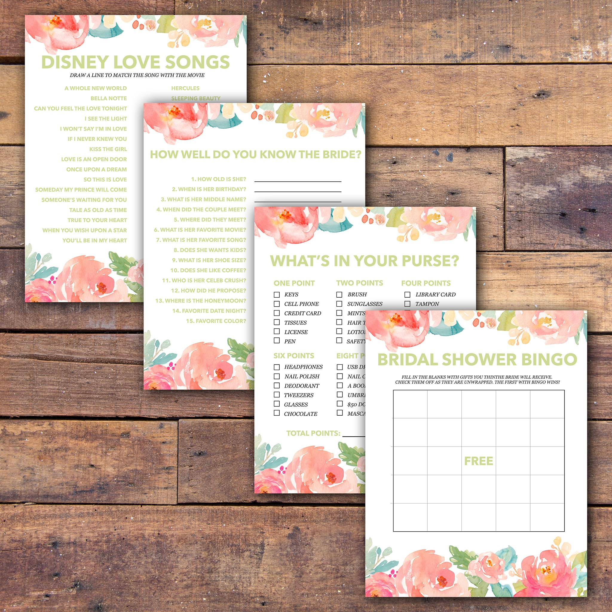 Bridal Shower Games Free Printable - - Samantha Jean Photograhy - Free Printable Household Shower Games