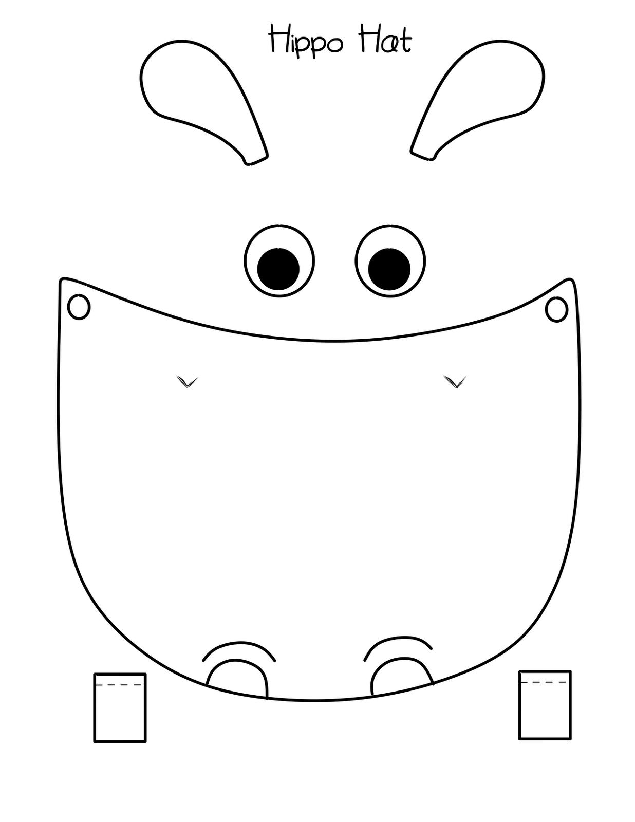 hippo face template - HD1236×1600