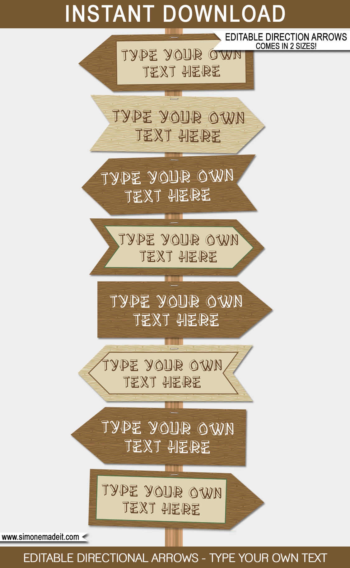 Camping Party Directional Signs | Printable Direction Arrows - Free Printable Camping Signs