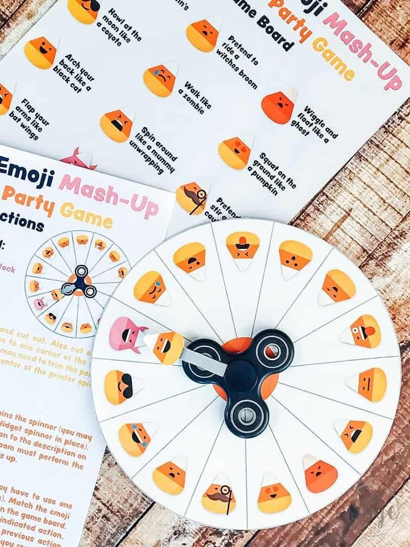 Candy Corn Emoji Mash-Up Halloween Party Game - 730 Sage Street - Free Printable Halloween Party Games