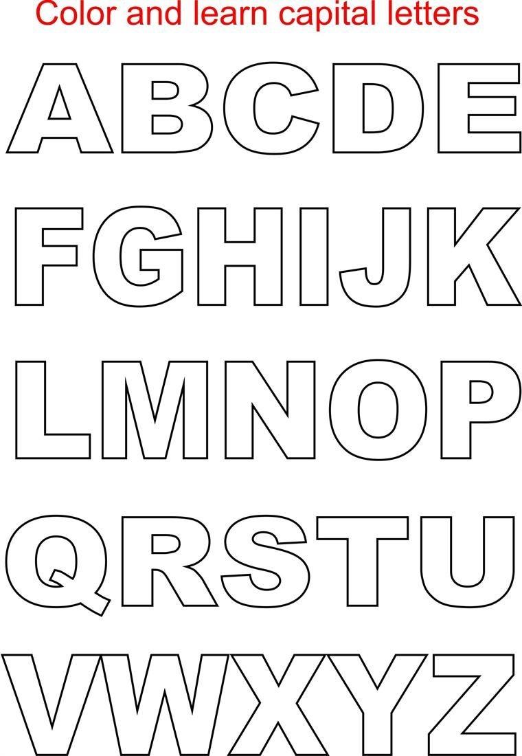 Capital Letter Alphabet Kids | Lettering | Free Printable Alphabet - Free Printable Block Letters