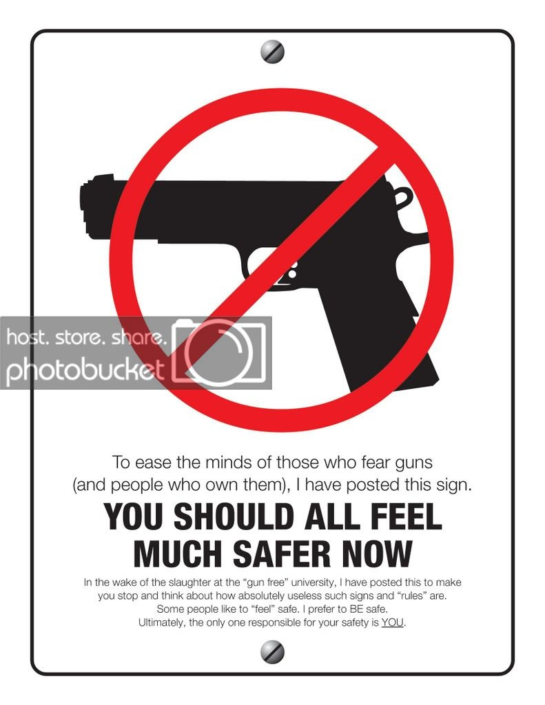 Carry, Always; It's Your Life! - Free Printable No Guns Allowed Sign