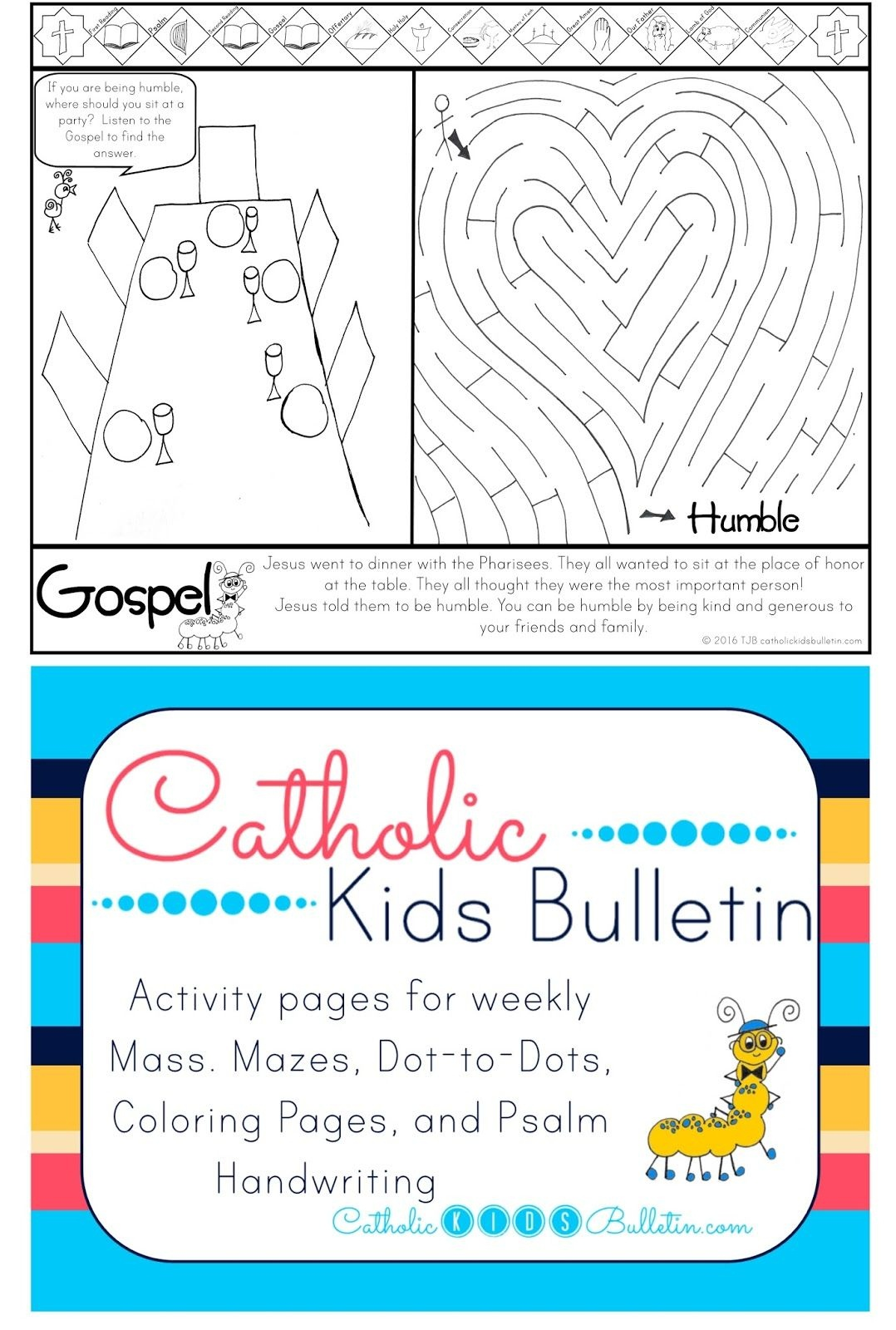 Catholic Kids Bulletin Coloring Page - A Free Printable For Every - Free Printable Catholic Mass Book