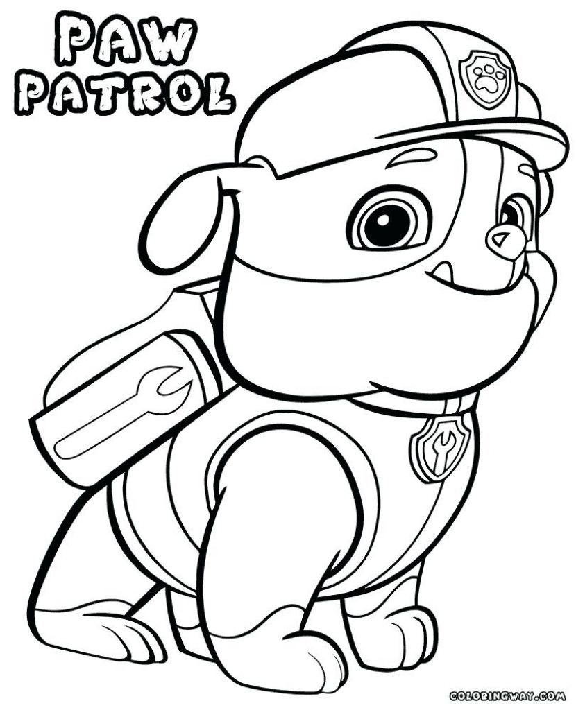 Chase Paw Patrol Coloring Page Printable Free Printable Paw Patrol - Free Printable Paw Patrol Coloring Pages