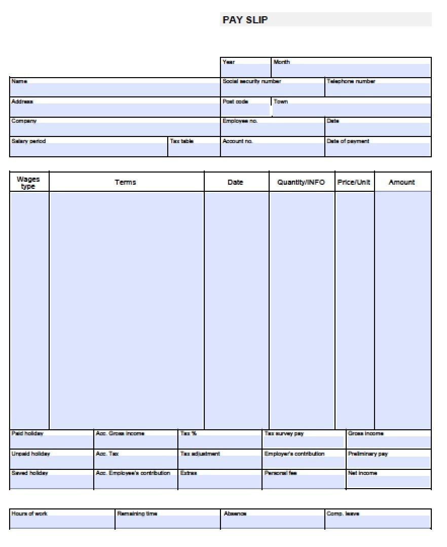 Check Stub Template Free   Pay Stub Template Free Blank-Usa-Pay-Stub - Free Printable Check Stubs