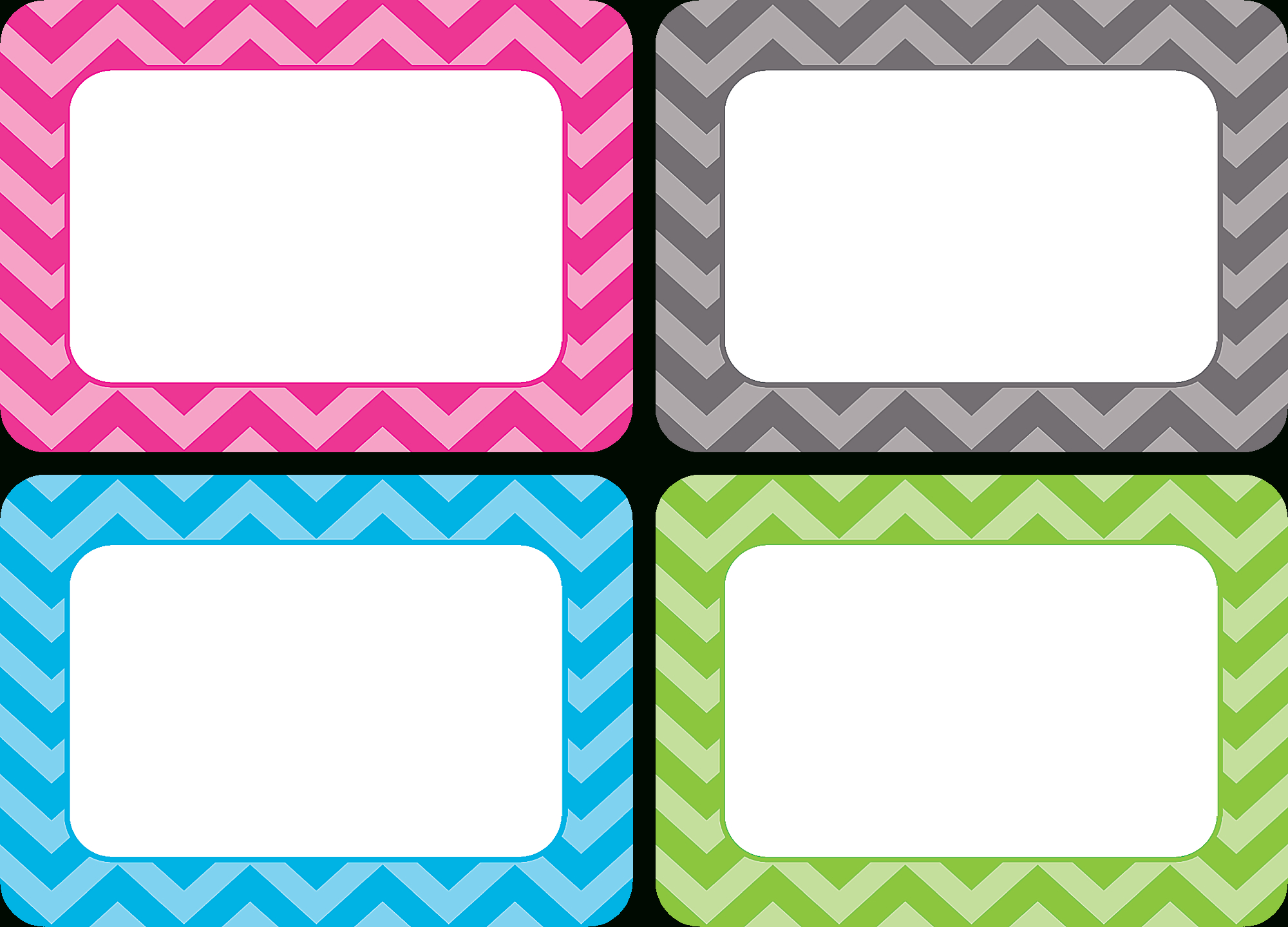 Chevron Name Tags/labels - Multi-Pack - Tcr5526   Teacher Created - Free Printable Name Tags For Teachers