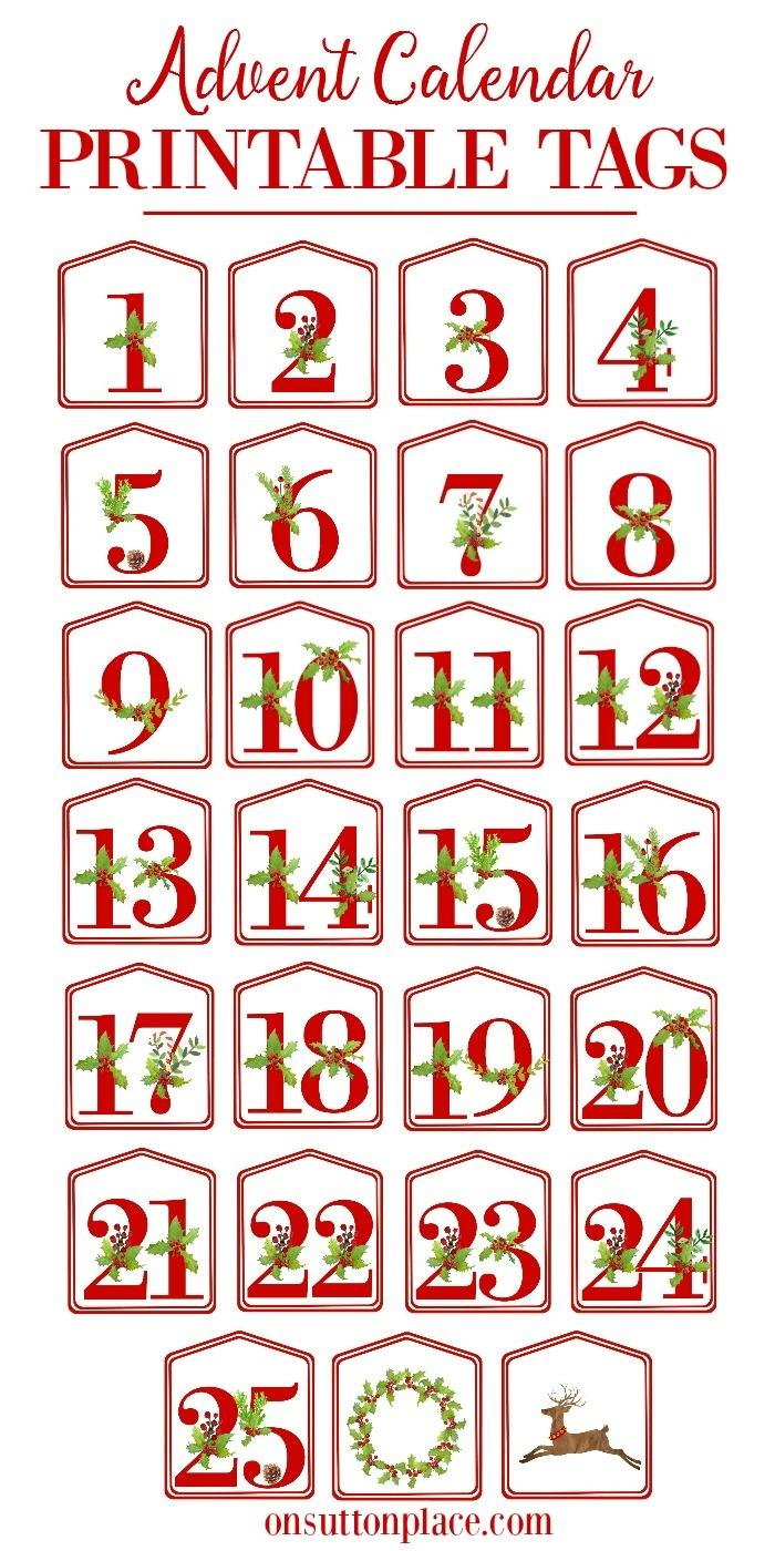 Christmas Alphabet Printables - On Sutton Place - Free Printable Christmas Alphabet