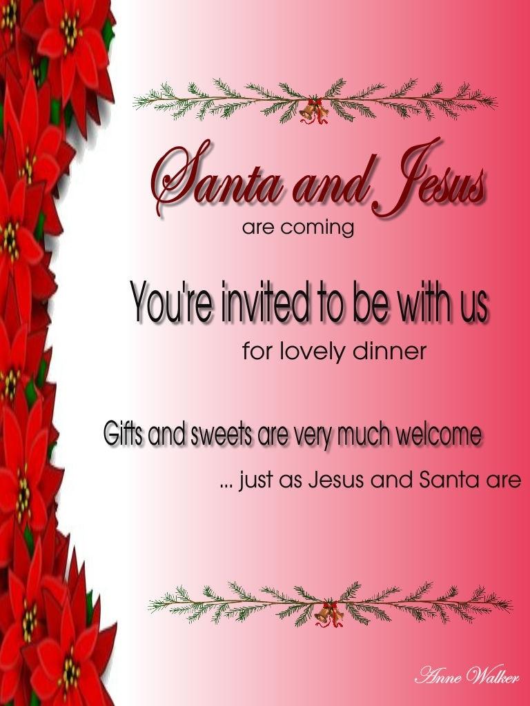 Christmas Invitation Template And Wording Ideas - Christmas - Free Printable Religious Christmas Invitations