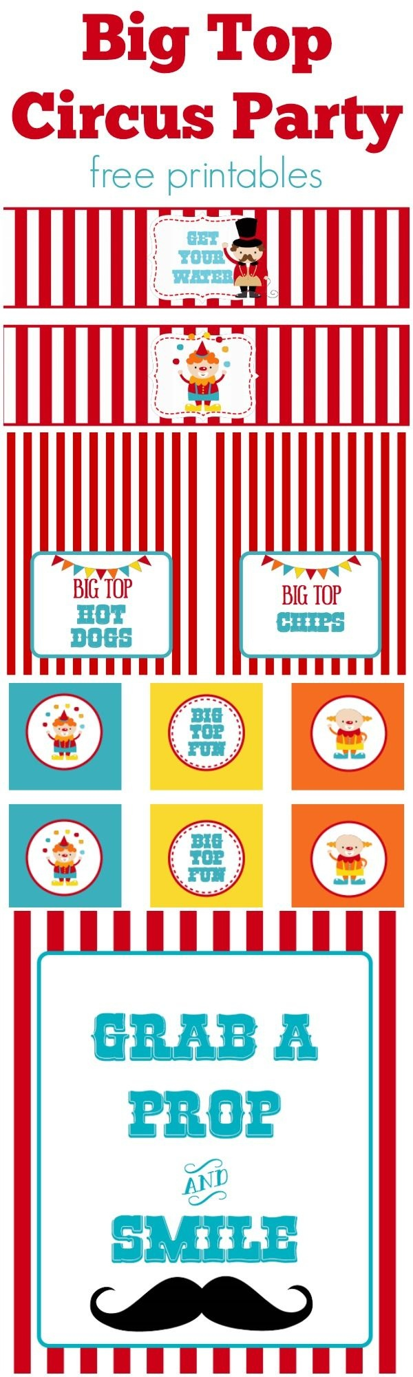 Circus Party   Free Printables   Free Printables   Circus Party - Free Printable Carnival Decorations