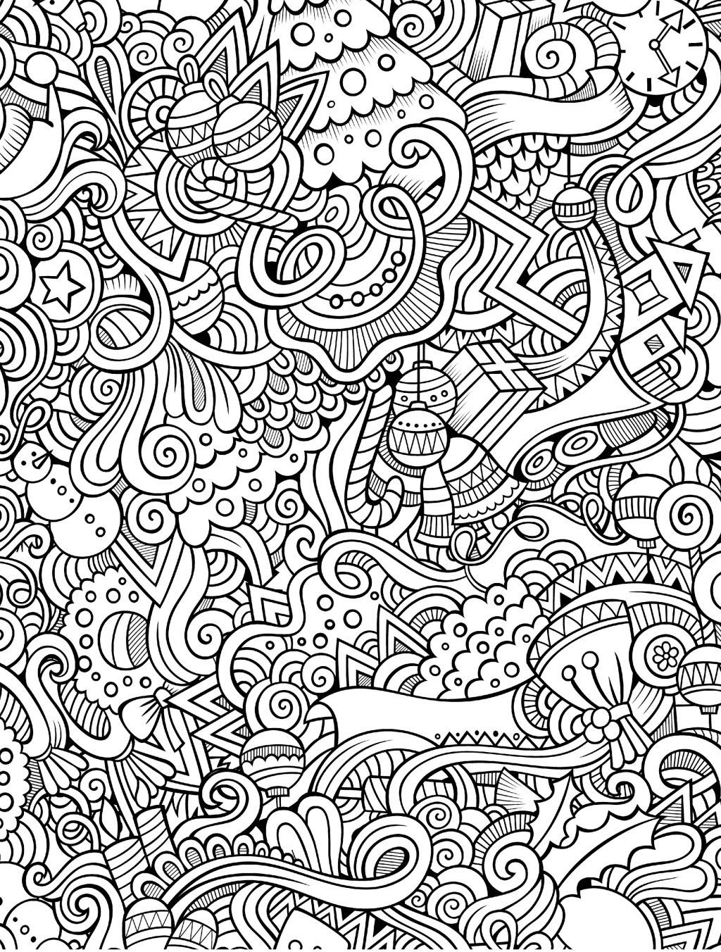 Coloring Ideas : Coloring Book For Adults Pdf Page Cartoon Santa - Free Printable Coloring Books Pdf