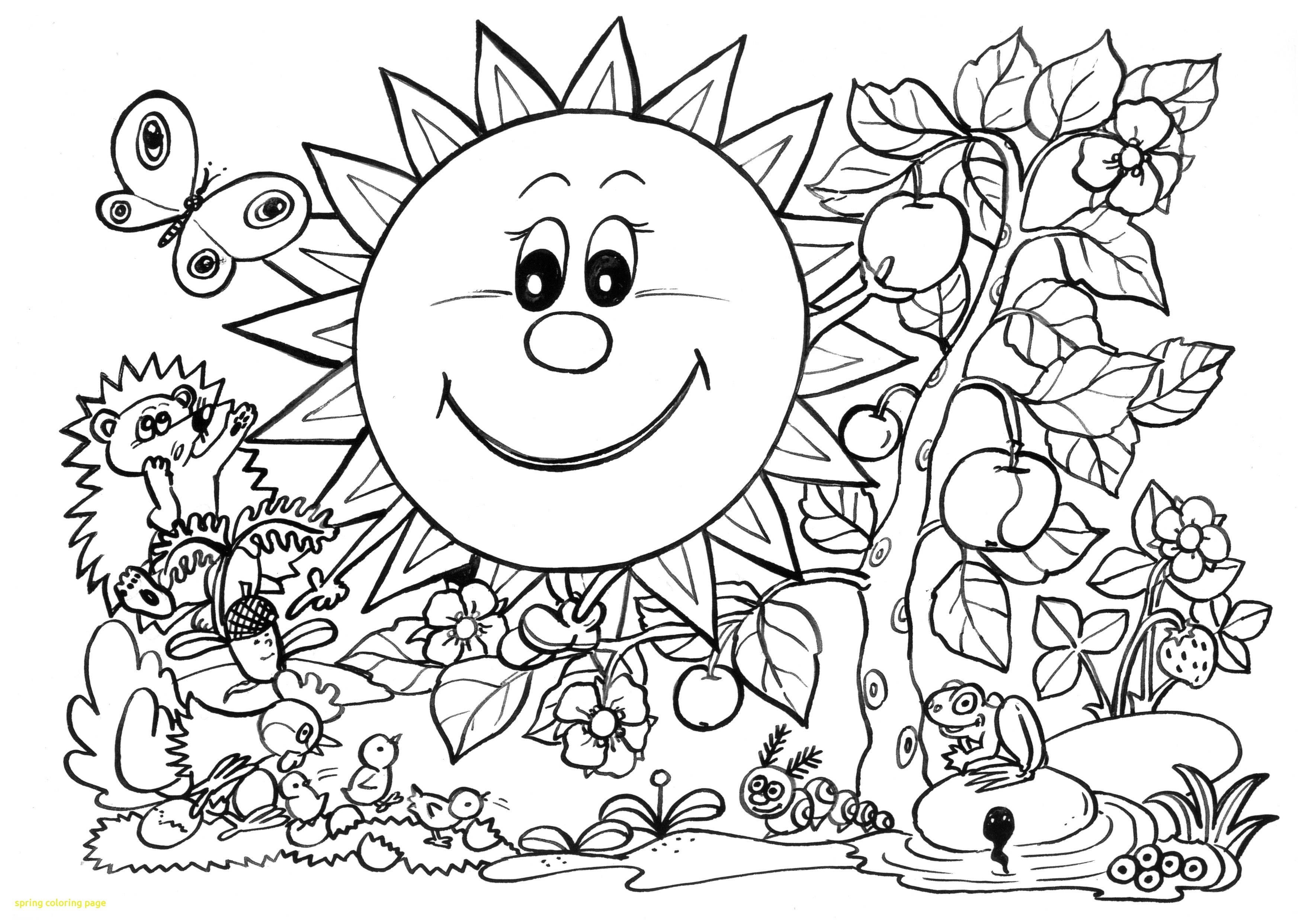 Coloring Ideas : Cute Spring Coloring Pages Unique Free Printable - Spring Coloring Sheets Free Printable