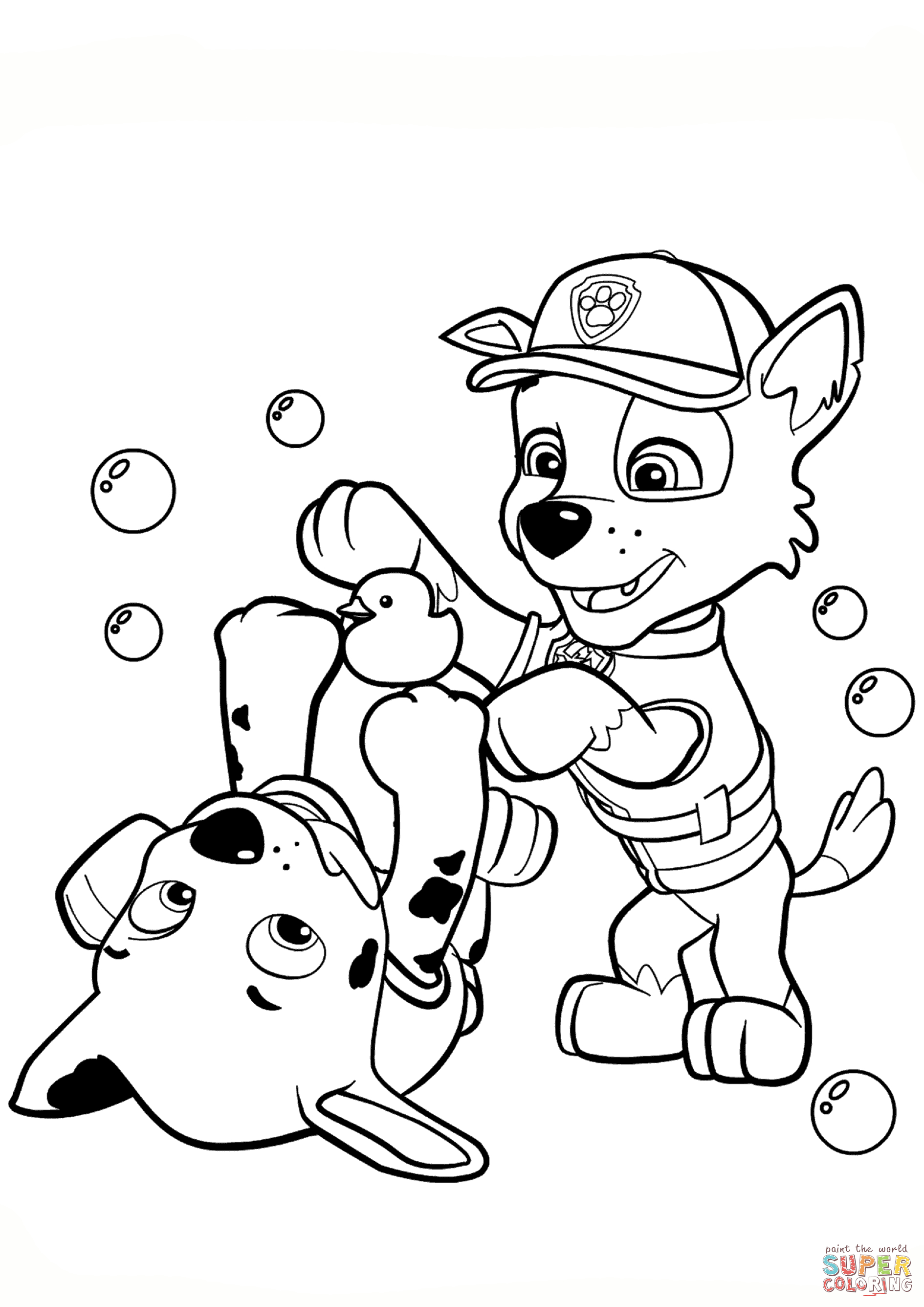 Coloring Ideas : Paw Patrol Rocky And Marshall Coloring Page - Free Printable Paw Patrol Coloring Pages