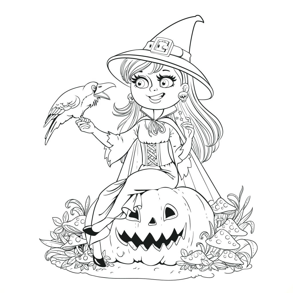 Coloring Page ~ Halloween Coloring Pages Adults For Printables Free - Free Printable Halloween Coloring Pages