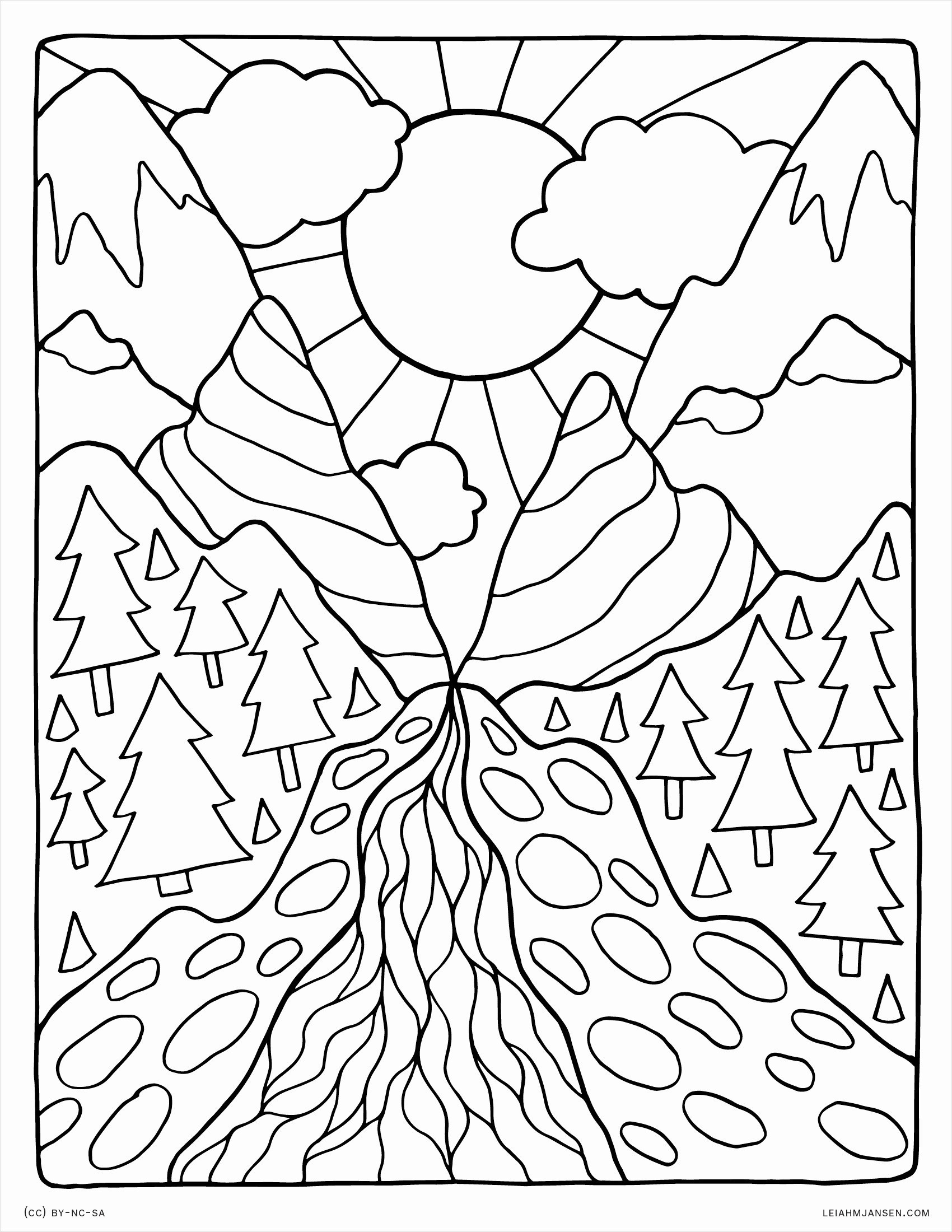Coloring Pages For Kids Nature With Free Printable Nature Coloring - Free Printable Nature Coloring Pages For Adults