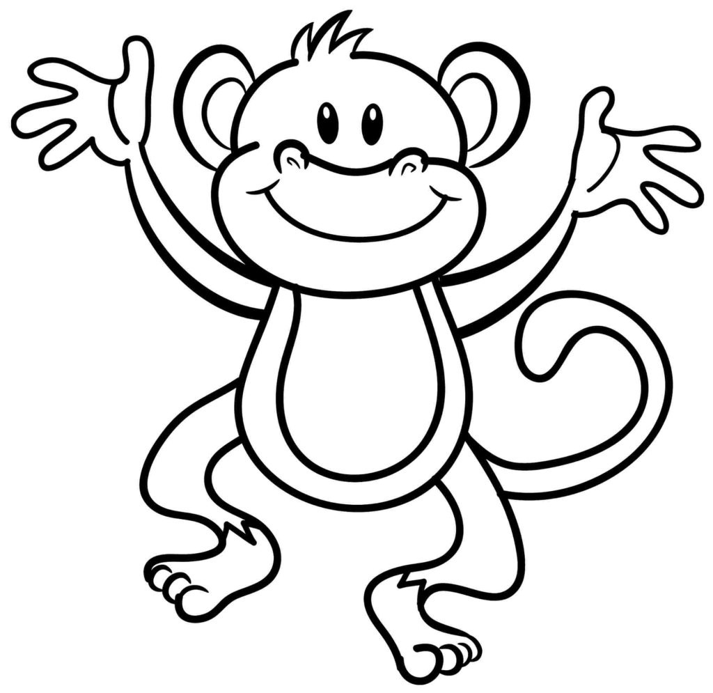 Coloring Pages: Valentine Monkey Coloring At Get Drawings Free For - Free Printable Monkey Coloring Sheets