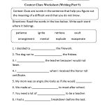 Context Clues Worksheet Writing Part 9 Intermediate | Context Clues - Free Printable 5Th Grade Context Clues Worksheets