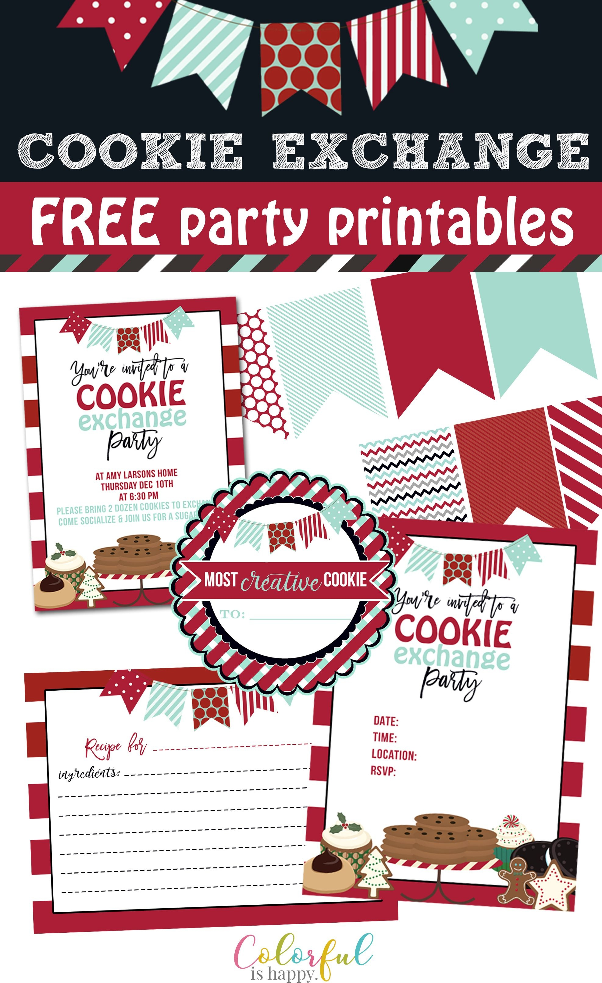 Cookie Exchange Holiday Party Invitations & Ideas With Free - Free Printable Cookie Decorating Invitations