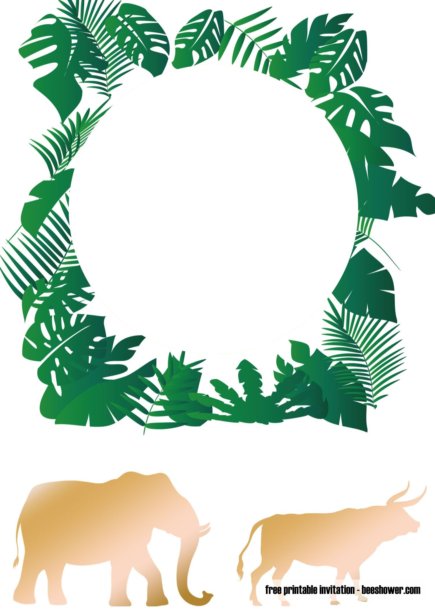 Cool Free Printable Jungle Baby Shower Invitations Templates - Free Printable Camo Baby Shower Invitations