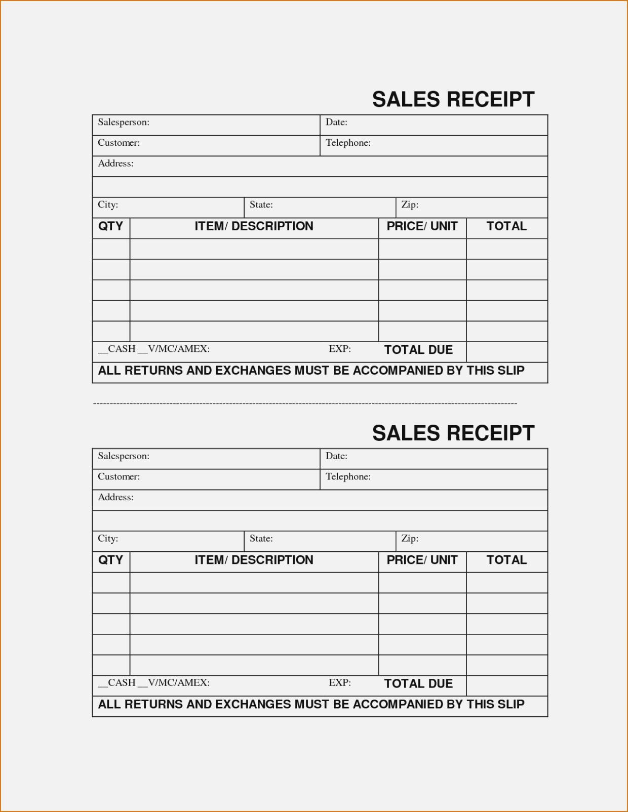 Create Printable Forms Online Sample Sales Receipt Template Lovely - Free Printable Sales Receipts Online