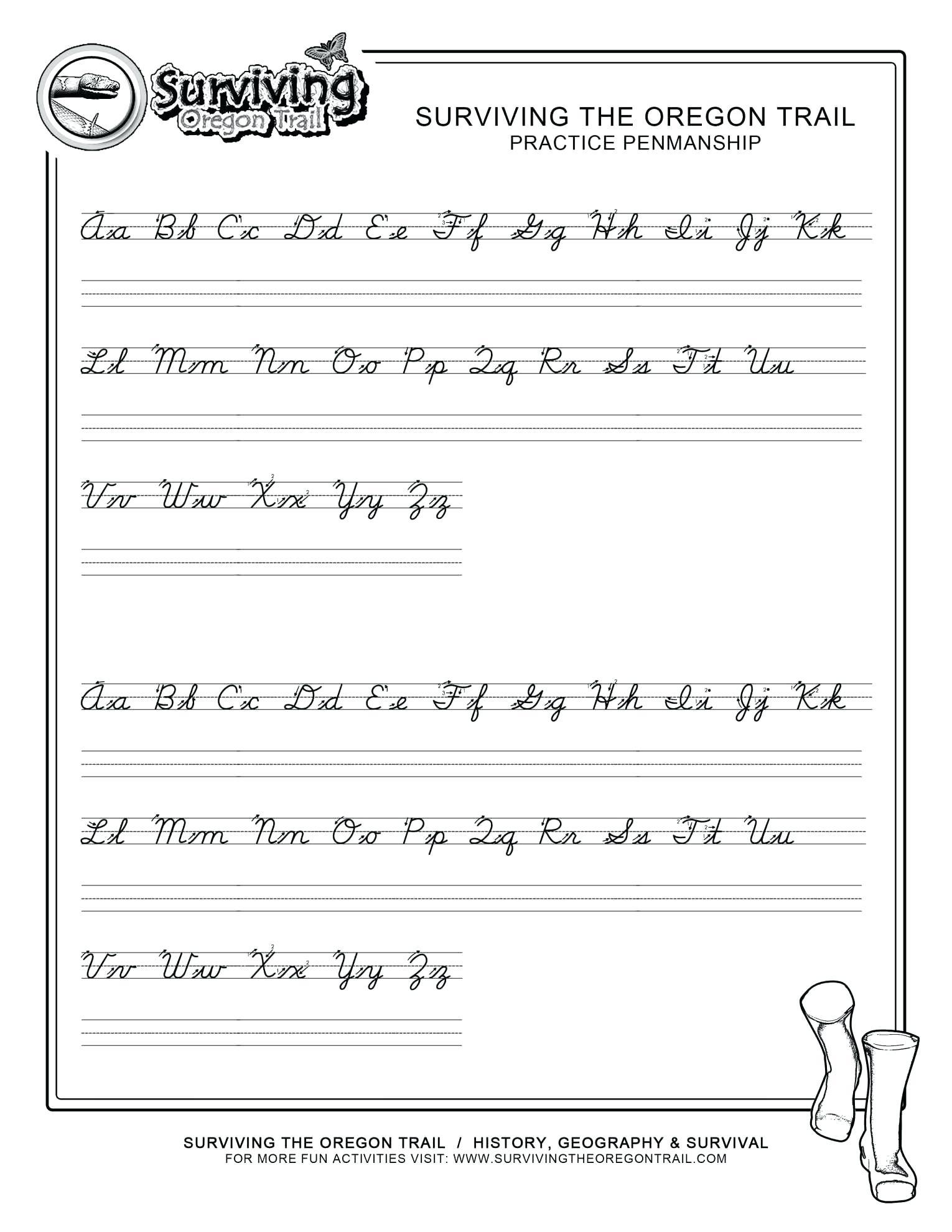Cursive Alphabet Traceable Worksheets – Pointeuniform.club - Free Printable Script Writing Worksheets