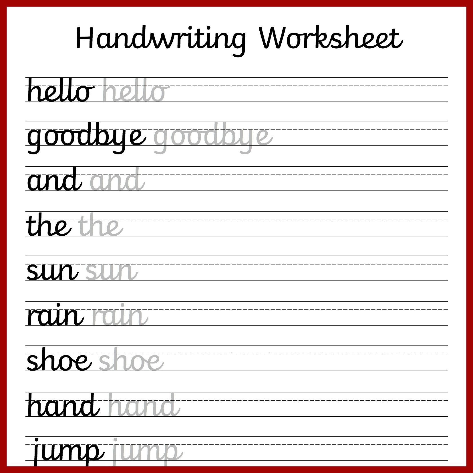 Cursive Handwriting Worksheets – Free Printable! ⋆ Mama Geek - Blank Handwriting Worksheets Printable Free