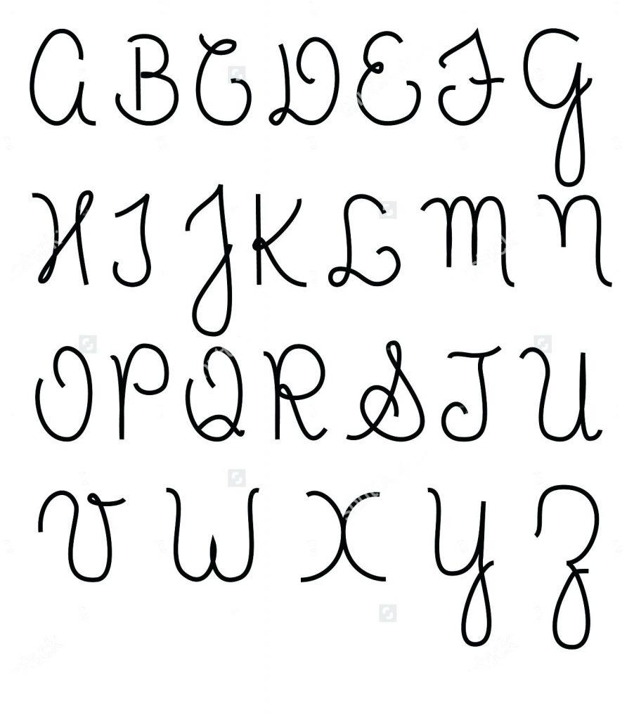 Cursive Lettering Alphabet Capital Letters Alphabet ...