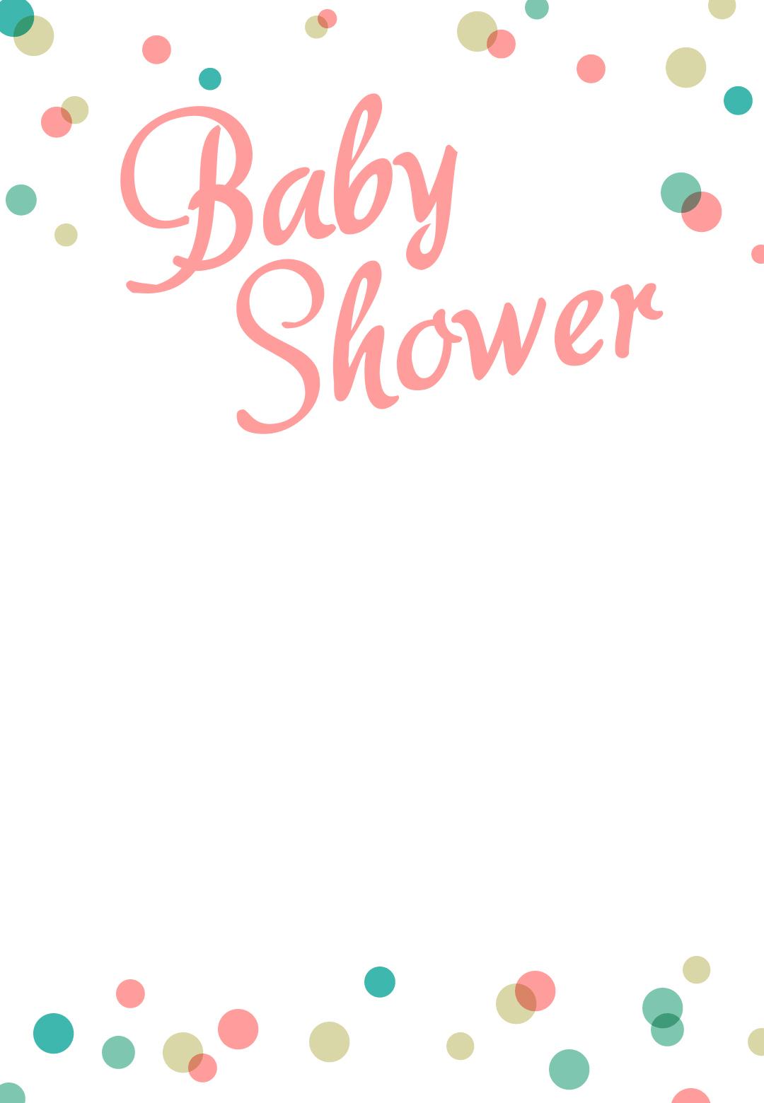 Dancing Dots Borders - Free Printable Baby Shower Invitation - Free Printable Baby Borders For Paper