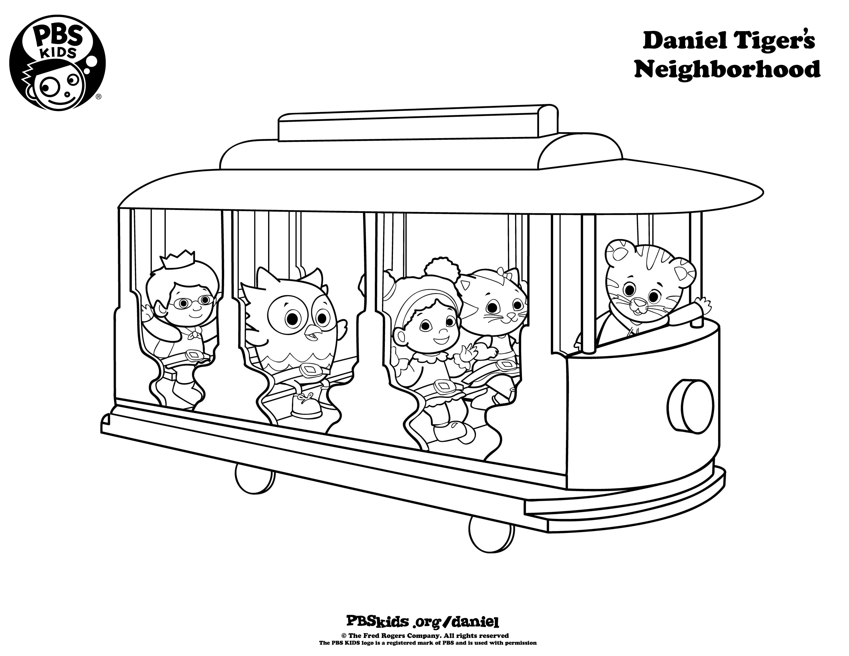 Daniel Tiger Coloring Pages - Best Coloring Pages For Kids - Free Printable Daniel Tiger Coloring Pages