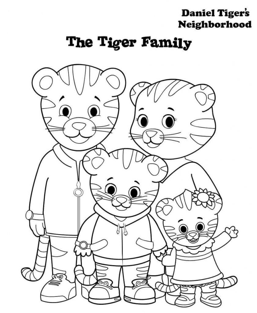 Daniel Tiger Family Coloring Pages | Printables For Kids In 2019 - Free Printable Daniel Tiger Coloring Pages