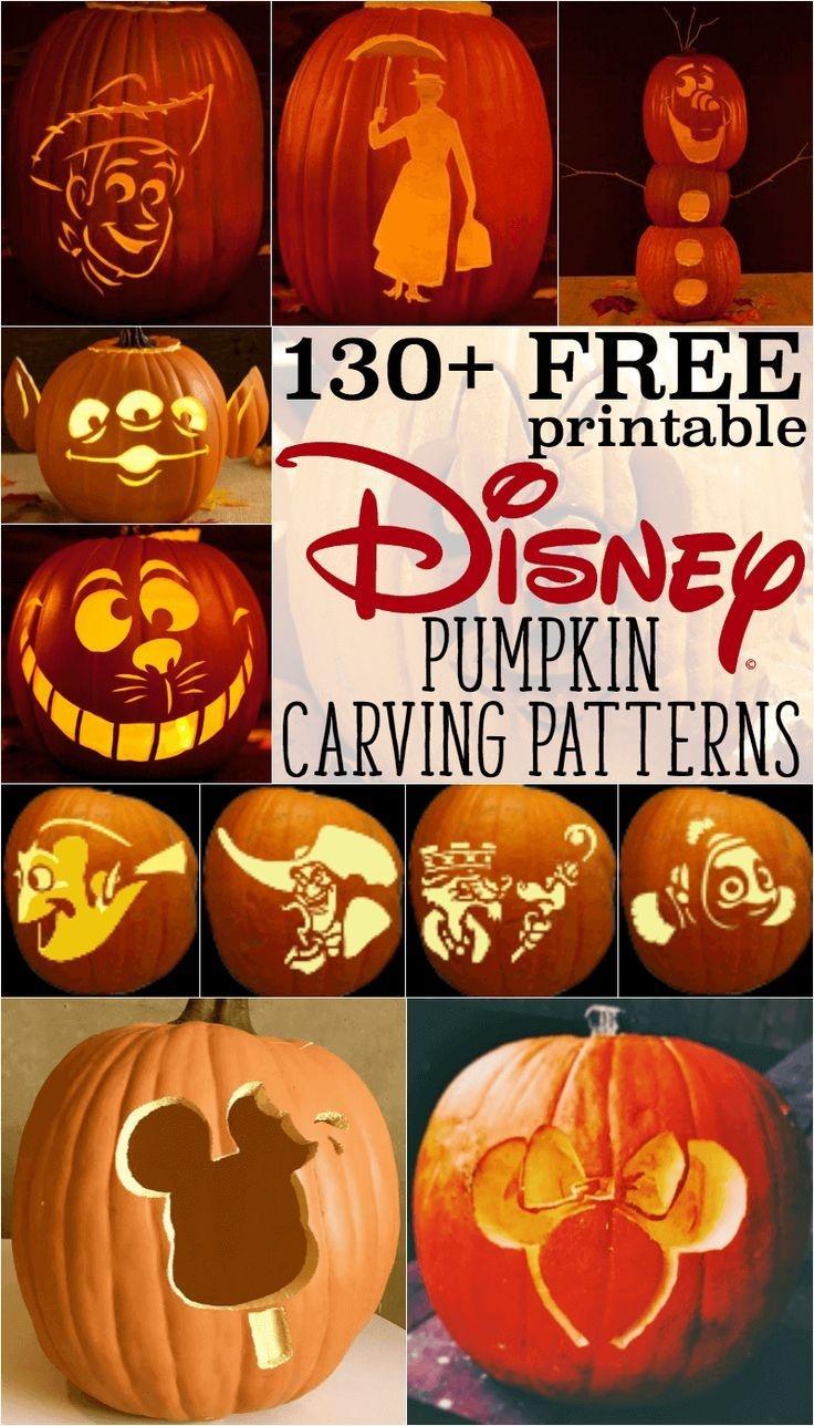 Disney Pumpkin Stencils: Over 130 Printable Pumpkin Patterns - Pumpkin Carving Patterns Free Printable
