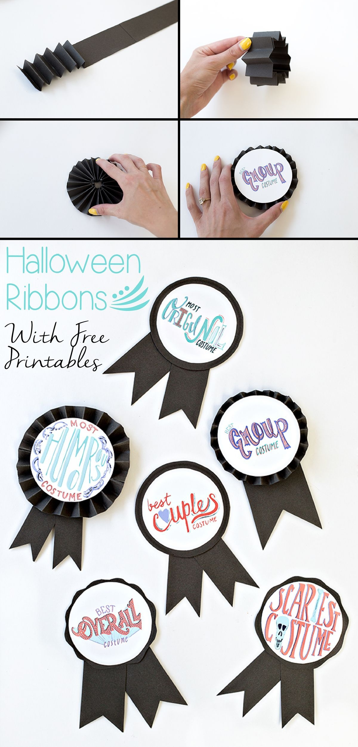 Diy Halloween Costume Award Ribbons (+ Free Printable   Free - Free Printable Halloween Award Certificates
