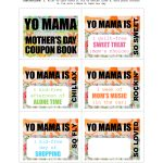 Diy Printable Mother's Day Coupon Book–'yo Mama' - Free Printable Homemade Coupon Book
