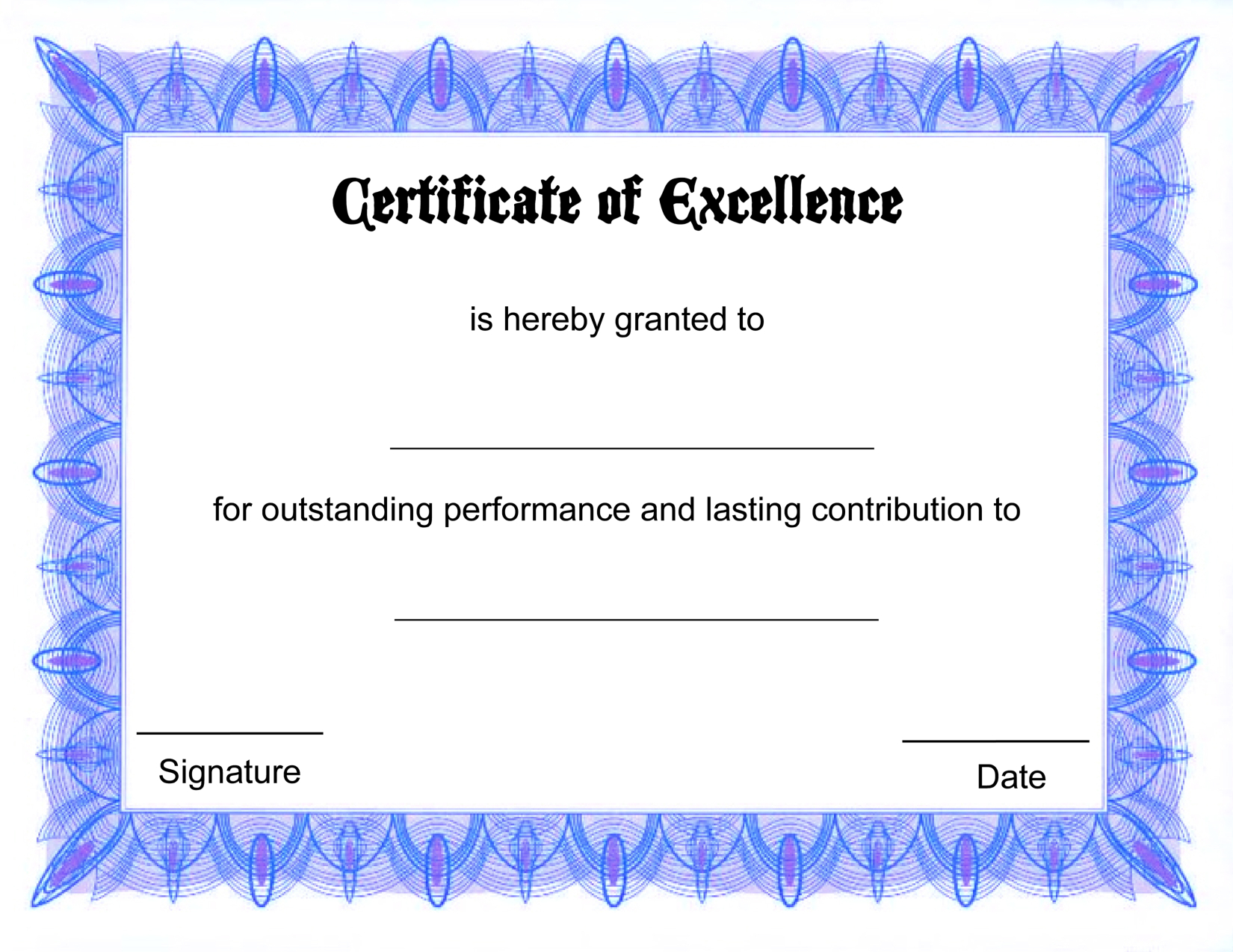 Docs-Printable Certificate Template - Free Printable Certificate Templates